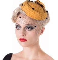 fiftiesstore Marilyn Fascinator Mustard