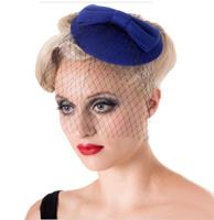 fiftiesstore Candice Fascinator Royal Blue