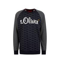 s.Oliver trui met tekst donkerblauw