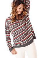 Your look for less! Pullover, terra gestreept