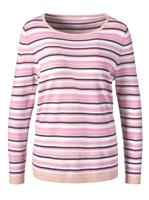 Your look for less! Pullover, roze gestreept