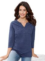 Your look for less! Shirt, jeansblauw