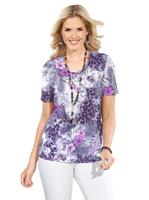 Your look for less! Shirt, paars geprint