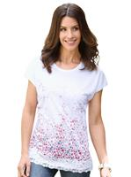 Your look for less! Shirt, wit geprint