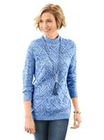 Your look for less! Pullover, blauw gemêleerd