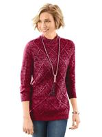 Your look for less! Pullover, rood gemêleerd