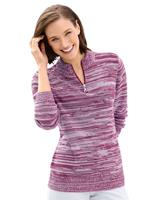 Your look for less! Pullover, fuchsia gemêleerd