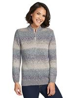 Your look for less! Pullover, winterturquoise gestreept