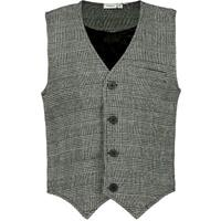 Name it Geruit Gilet Heren Zwart
