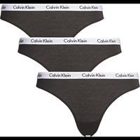 calvinklein 3-pack dames slips - zwart