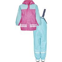 Playshoes regenpak tweedelig fleecevoering junior turquoise