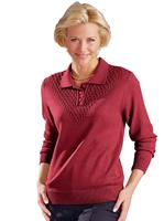 Your look for less! Polopullover, bordeaux