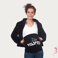 opentopzwanger Op en Top Zwanger Zwangerschaps Buikband Wanted Zwart