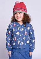Oilily Hemi sweat cardigan 55 animal faces- blauw