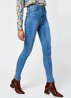 Noisy May High Waist Skinny Fit Jeans Dames Blauw