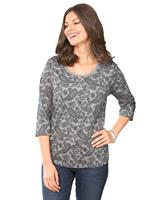 Your look for less! Dames Shirt grijs geprint