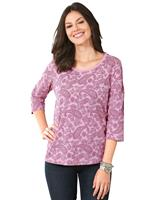 Your look for less! Shirt, roze geprint