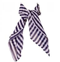 fiftiesstore Bettie Scarf Blue / White Stripes