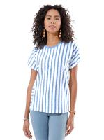 Your look for less! Shirt, jeansblauw gestreept