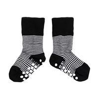 KipKep Blijf Sokken Zwart / Wit Gestreept 12-18 Maanden