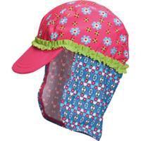 Playshoes Girls UV-Bescherming Zonnepet Bloemen pink - Roze/lichtroze - - Meisjes