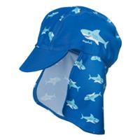 Playshoes Boys UV-bescherming Zonnepetje Haai marine - Blauw - - Jongen