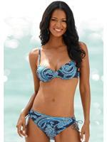 Lascana beugel bikinitop met paisley print blauw