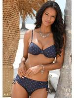Lascana beugel bikinitop met stippen donkerblauw/wit
