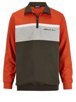 Men plus Sweatshirt  Terracotta::Grijs
