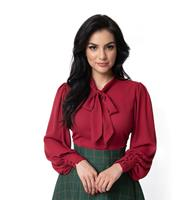 fiftiesstore Gwen Blouse Burgundy