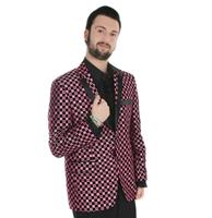 fiftiesstore Show Jacket Pink Checker Spots