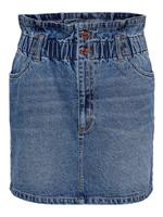 Paperbag Denim Rok Dames Blauw