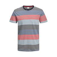 JACK & JONES CORE gestreept T-shirt chinese red