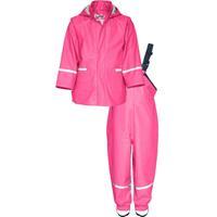 Playshoes regenpak tweedelig Basic junior roze