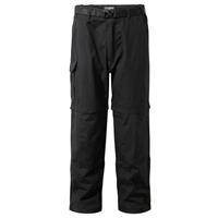 Craghoppers afritsbroek Kiwi Zip Off Black R heren zwart