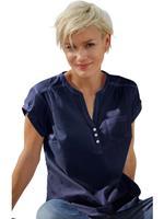 Casual Looks blouse met vastgezette omslag aan de mouwen