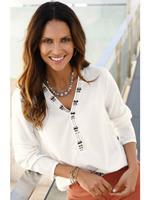 Classic Inspirationen Inspirationen blouse met siersteengarnering