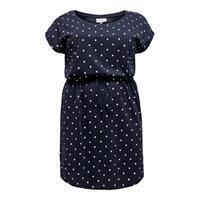 ONLY CARMAKOMA jersey jurk met stippen donkerblauw/wit
