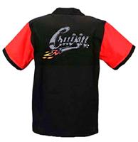 fiftiesstore Bowling Shirt Cruisin' Red / Black