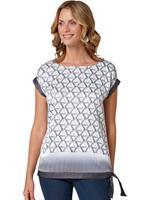 Ambria shirt met zilverkleurige folieprint in sterretjes-dessin