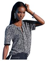 Creation L blouse met topmodern minimal-dessin