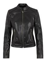 PIECES Leather Look Bikerjack Dames Zwart