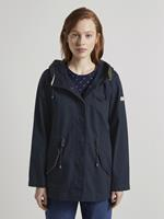 Tom Tailor Korte katoenen parka, Damesky Captain Blue