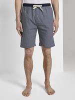 TOM TAILOR Pyjama Shorts, blue-medium-check