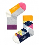 Happy Socks Sokken Kids Socks 2-Pack Argyle Grijs