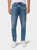 TOM TAILOR DENIM Conroy tapered jeans, Destroyed Light Stone Blue Den