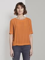 Tom Tailor Elegant crêpe T-shirt, Dames, fruity melon orange