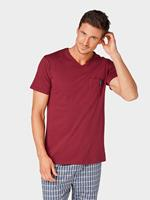 Tom Tailor pyjama T-shirt, Heren, red-medium-solid