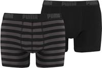 puma Bodywear Boxers Gestreept Grijs En Zwart 6-pack