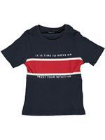 blueseven Blue Seven!Shirt Korte Mouw - Donkerblauw - Katoen/elasthan